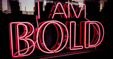 I am bold neon sign