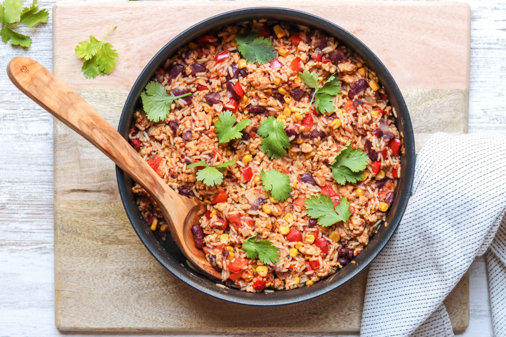 One Pot Turkey Chilli with Rice
